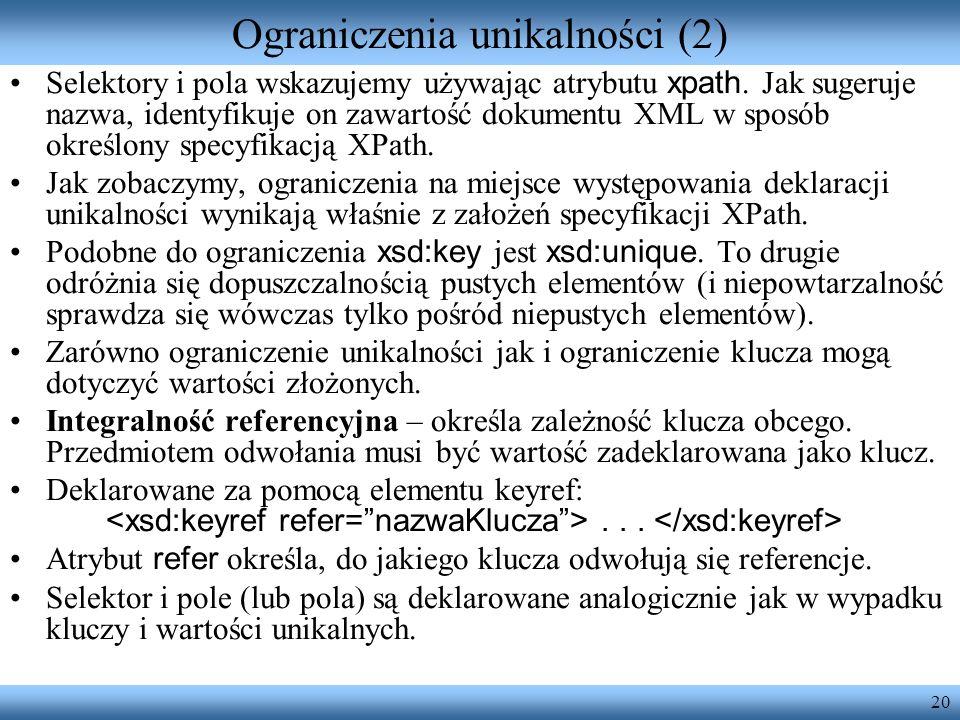 Ograniczenia unikalności (2)
