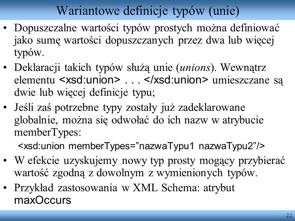 Wariantowe definicje typów (unie)