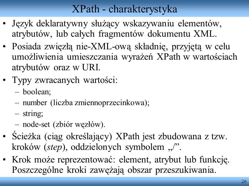 XPath - charakterystyka