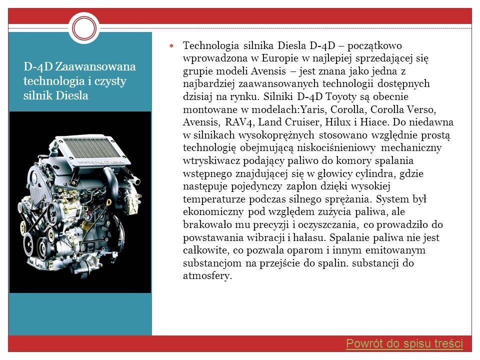 D-4D Zaawansowana technologia i czysty silnik Diesla
