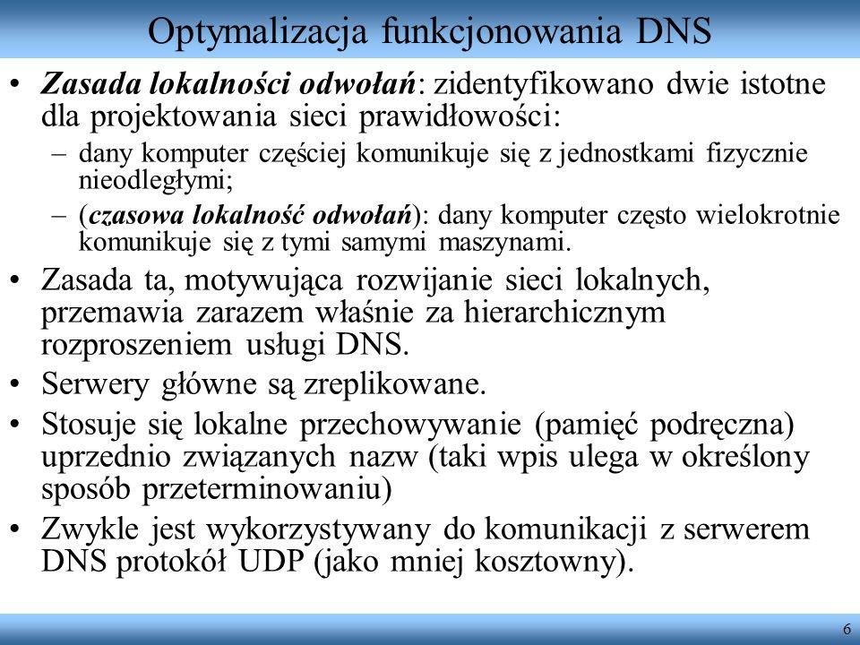 Optymalizacja funkcjonowania DNS