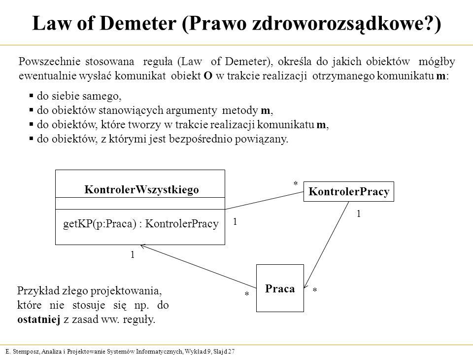Law of Demeter (Prawo zdroworozsądkowe )
