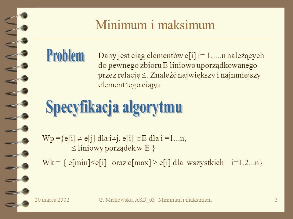 Specyfikacja algorytmu