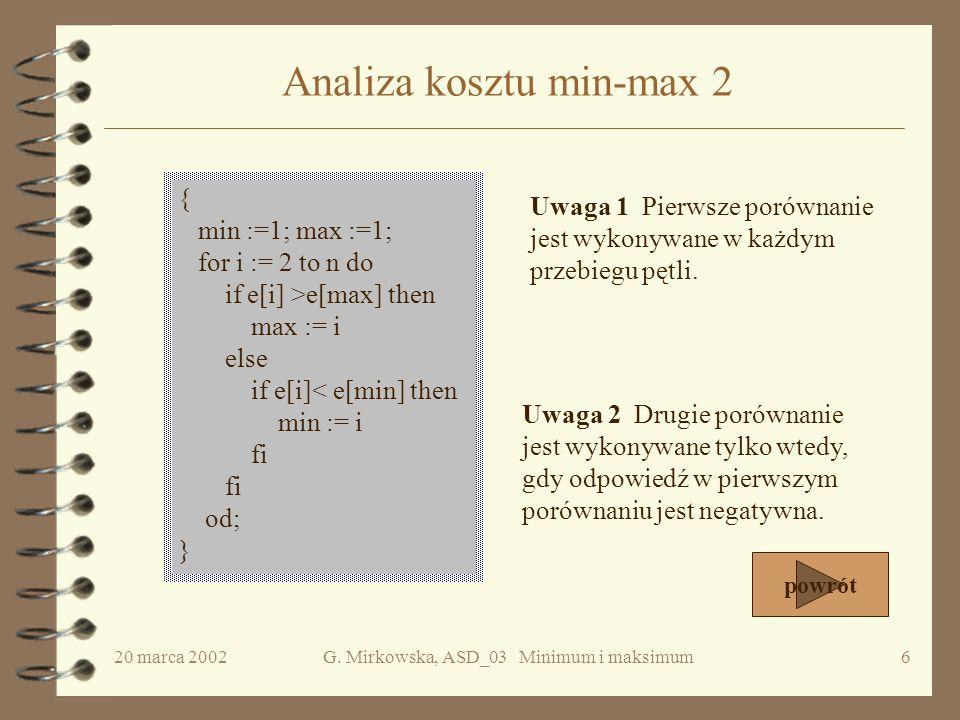 Analiza kosztu min-max 2