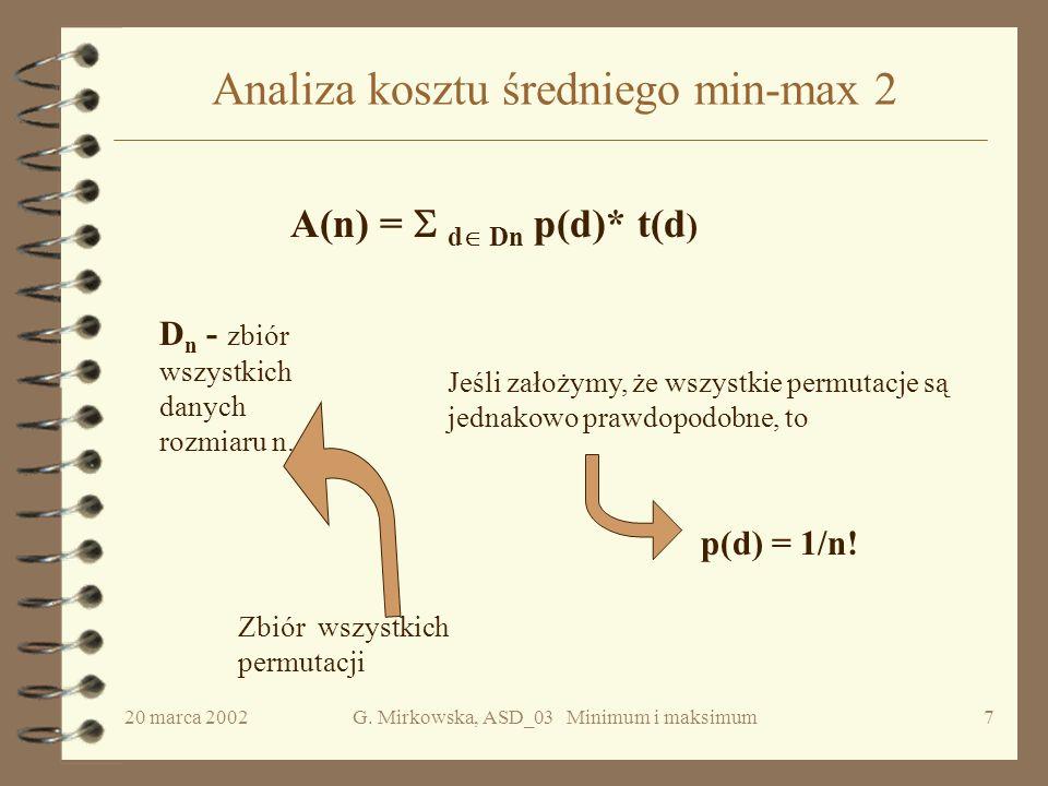 Analiza kosztu średniego min-max 2