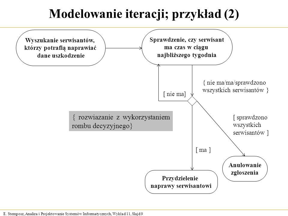 Modelowanie iteracji; przykład (2)