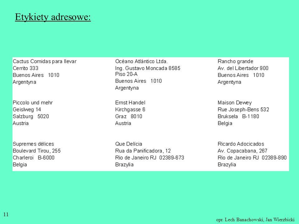 Etykiety adresowe: