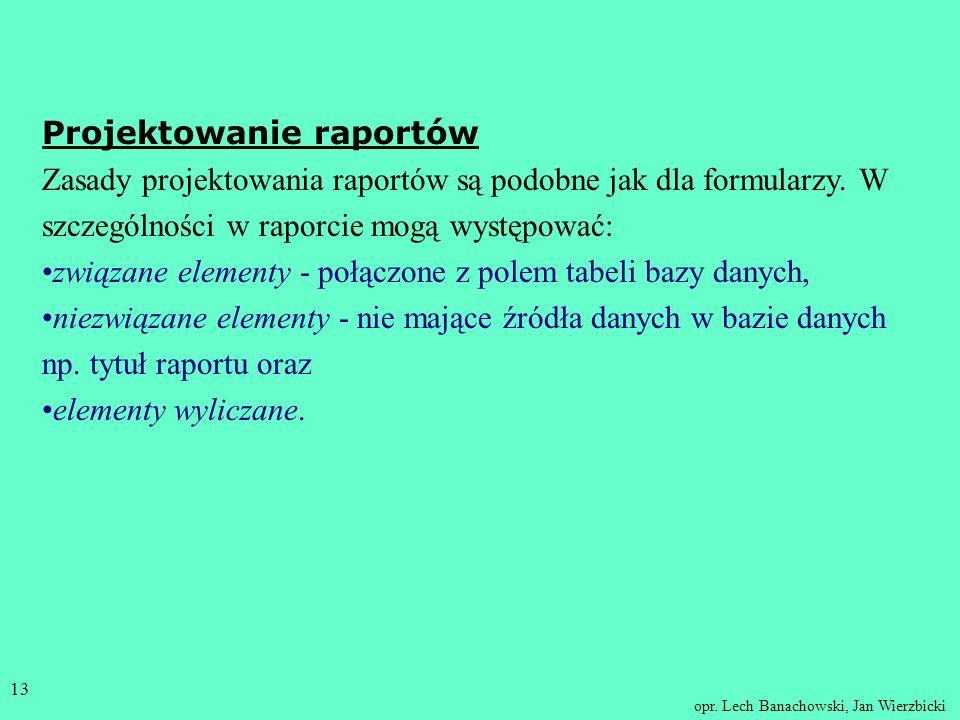 Projektowanie raportów