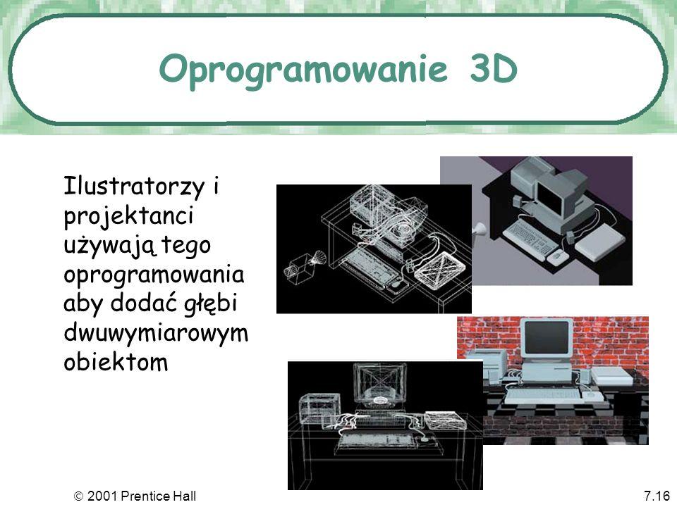 Oprogramowanie 3DIlustratorzy i projektanci używają tego oprogramowania aby dodać głębi dwuwymiarowym obiektom.