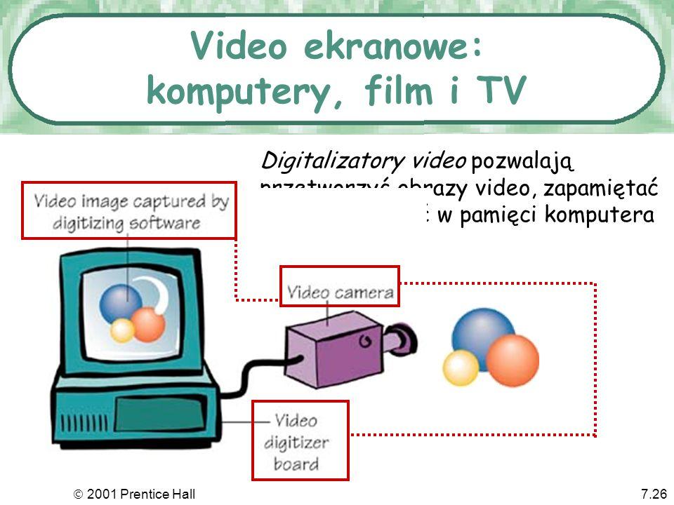 Video ekranowe: komputery, film i TV