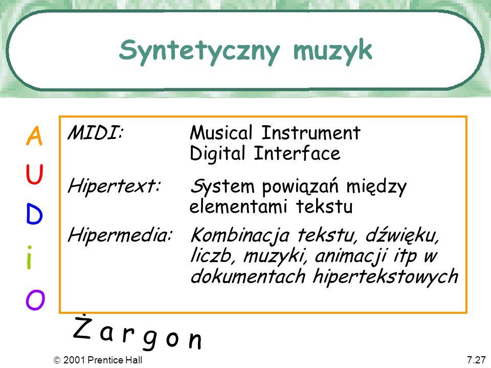 i Syntetyczny muzyk A U D O Ż a r g o n