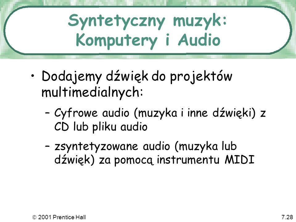 Syntetyczny muzyk: Komputery i Audio