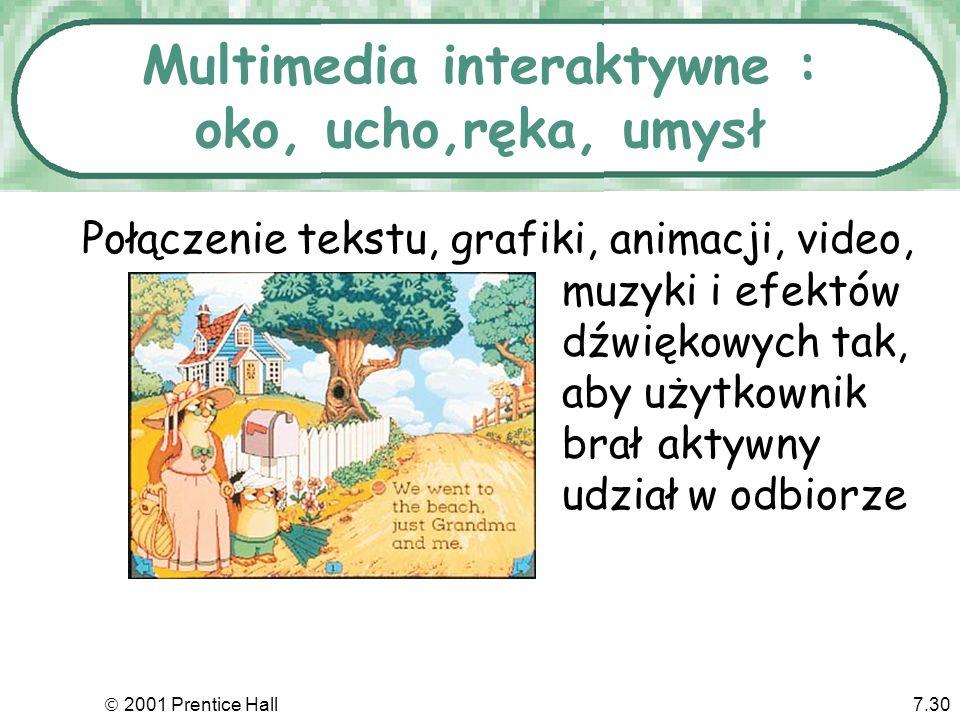 Multimedia interaktywne : oko, ucho,ręka, umysł