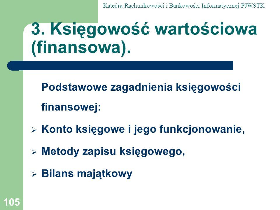 3. Księgowość wartościowa (finansowa).