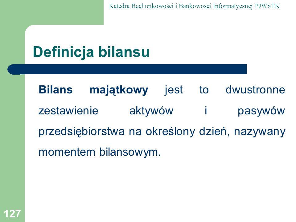 Definicja bilansu