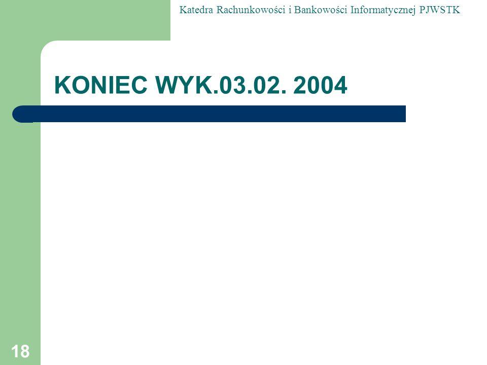 KONIEC WYK.03.02. 2004