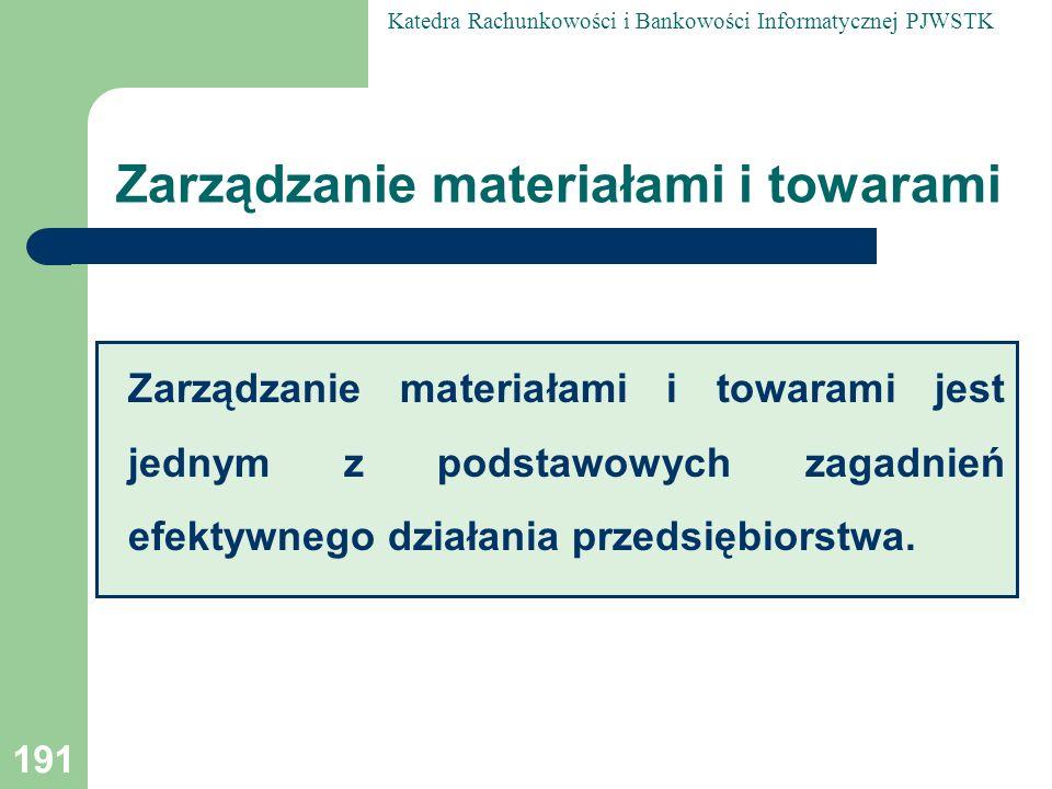 Zarządzanie materiałami i towarami
