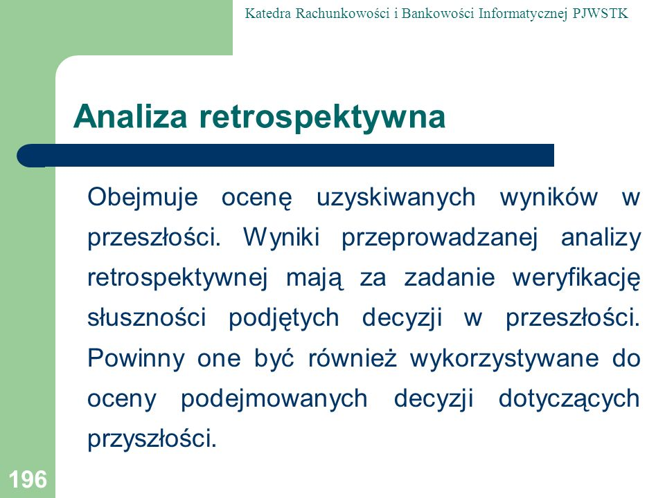 Analiza retrospektywna