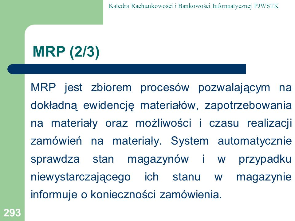 MRP (2/3)