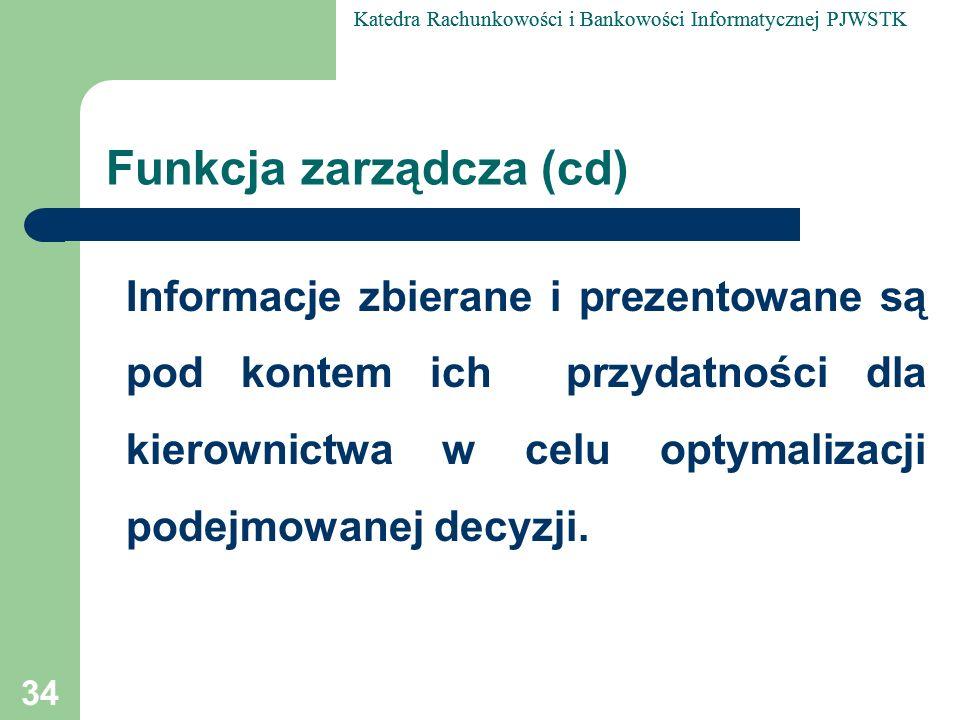 Funkcja zarządcza (cd)