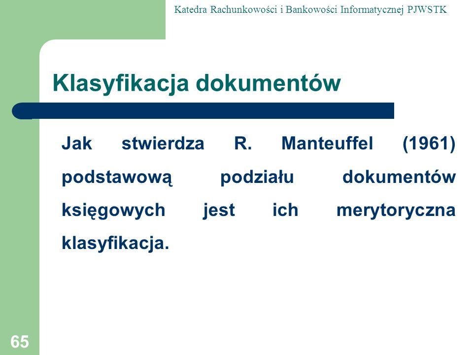 Klasyfikacja dokumentów