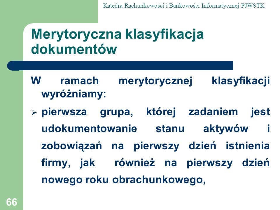 Merytoryczna klasyfikacja dokumentów
