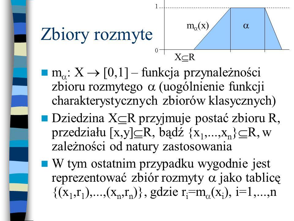 1 Zbiory rozmyte. m(x)  XR.