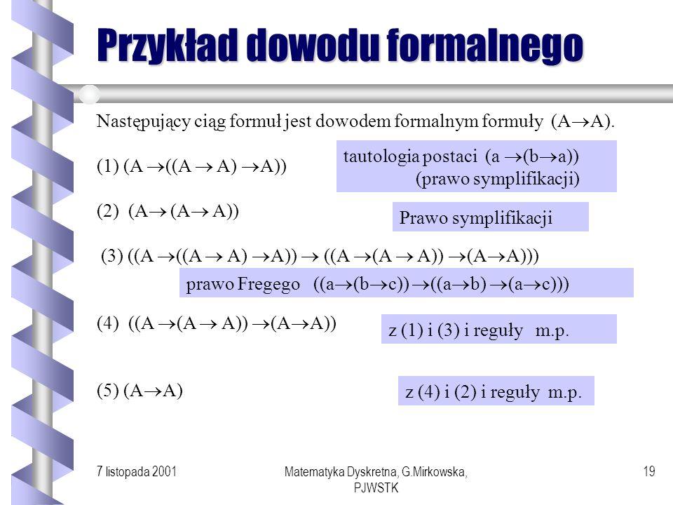 Przykład dowodu formalnego