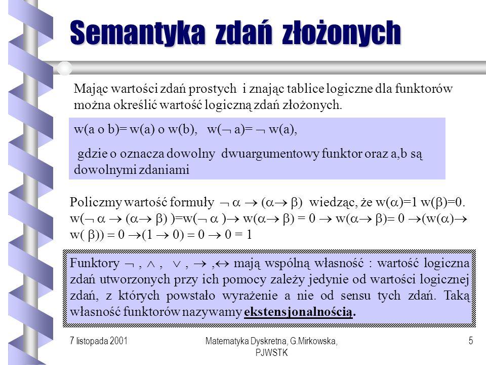 Semantyka zdań złożonych