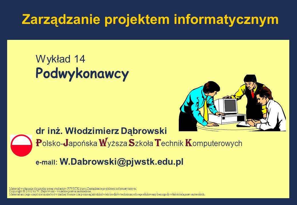 Zarządzanie projektem informatycznym