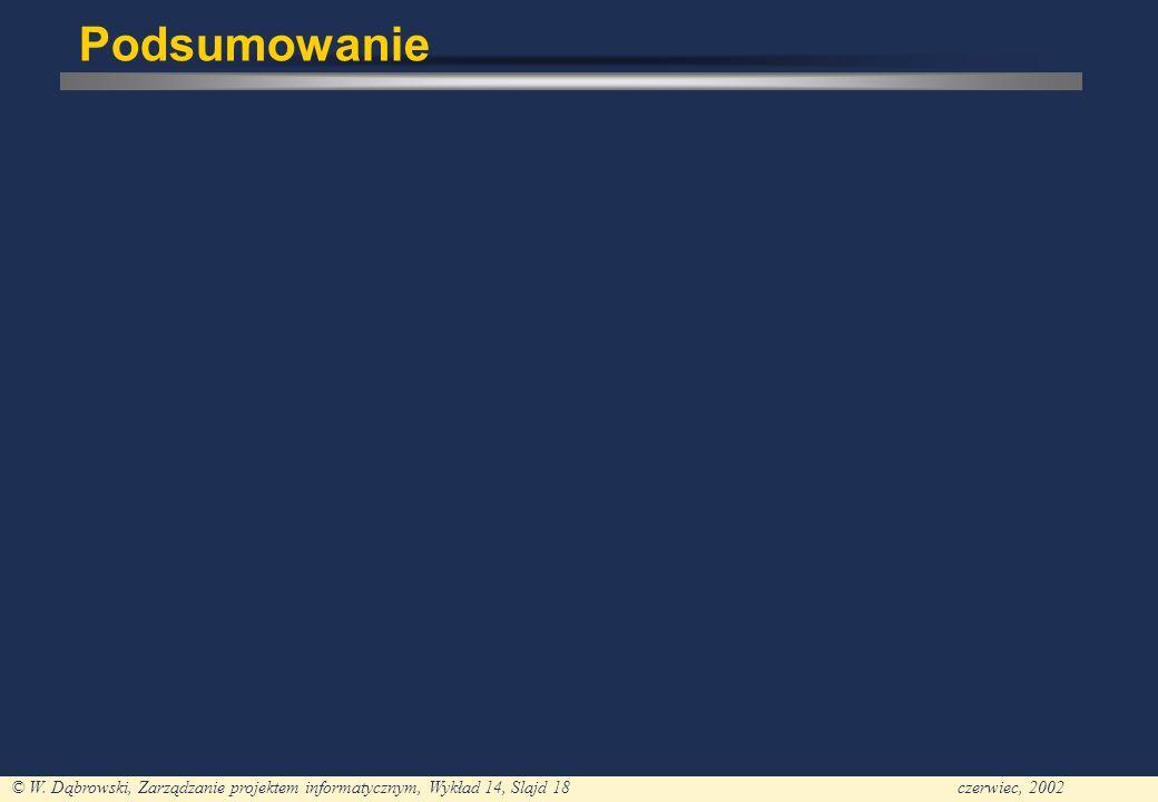 PJWSTK - PM Wykład 1 24-02-2002; PA1 Podsumowanie
