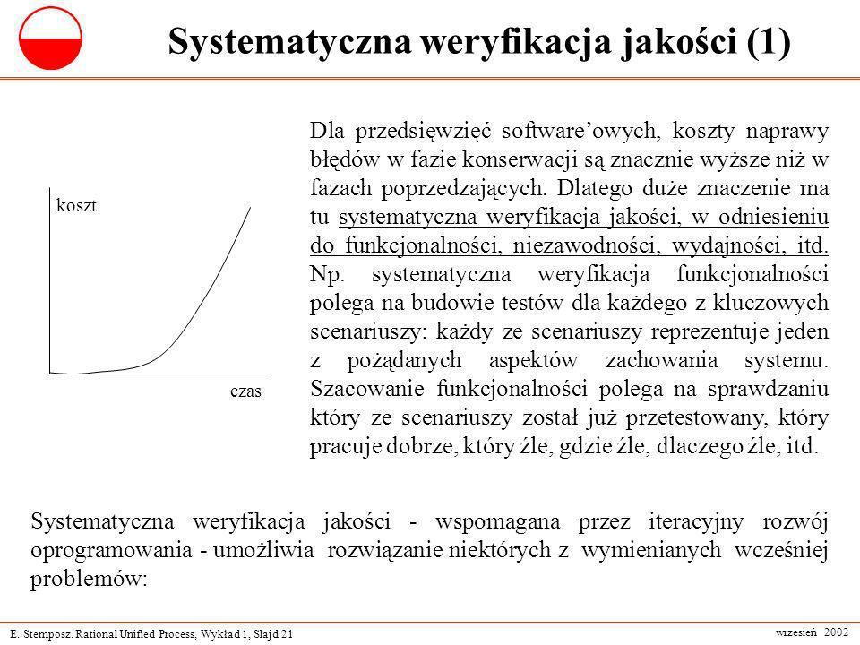 Systematyczna weryfikacja jakości (1)