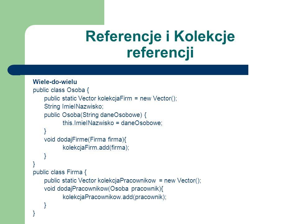 Referencje i Kolekcje referencji