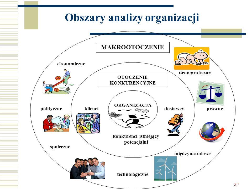 Obszary analizy organizacji