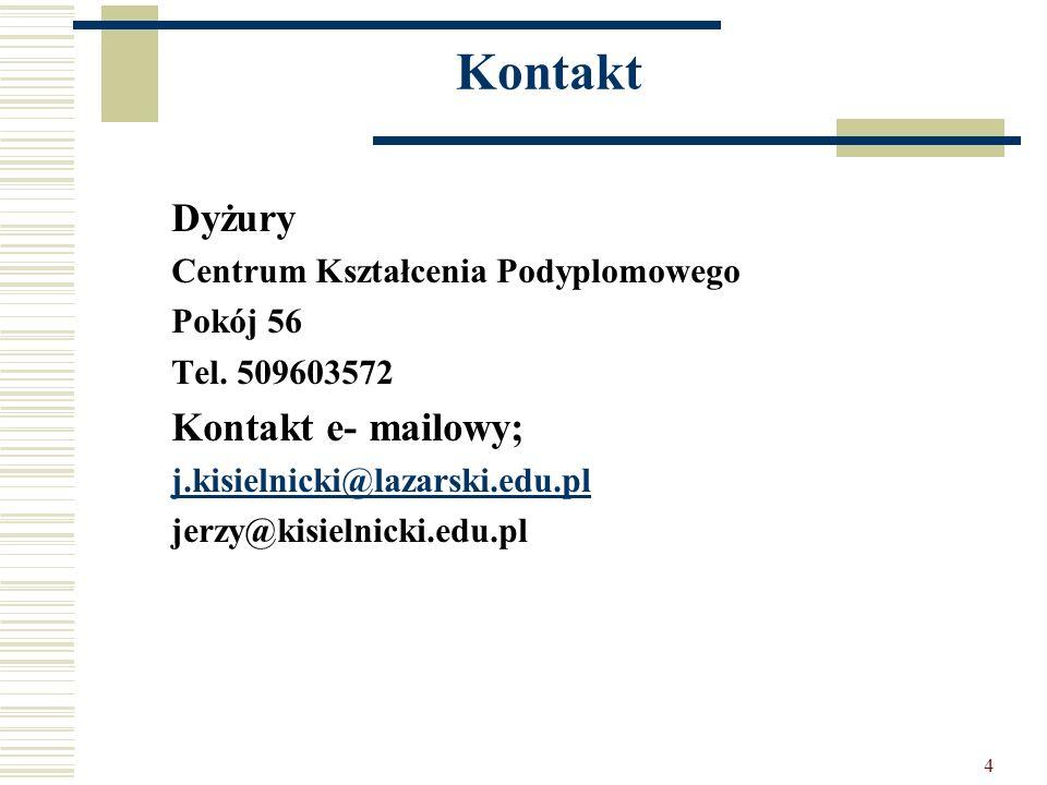 Kontakt Dyżury Kontakt e- mailowy; Centrum Kształcenia Podyplomowego