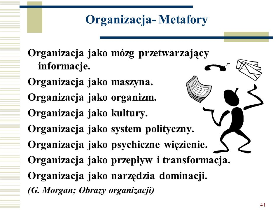 Organizacja- Metafory