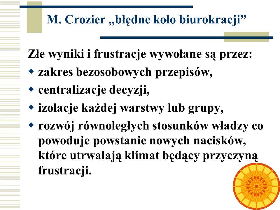 """M. Crozier """"błędne koło biurokracji"""