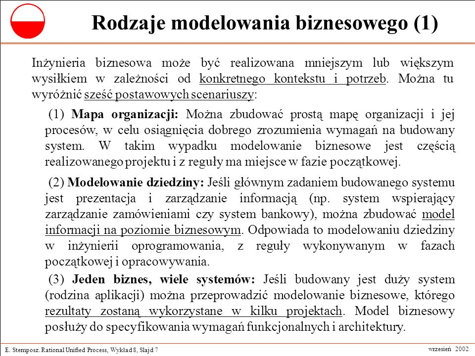 Rodzaje modelowania biznesowego (1)