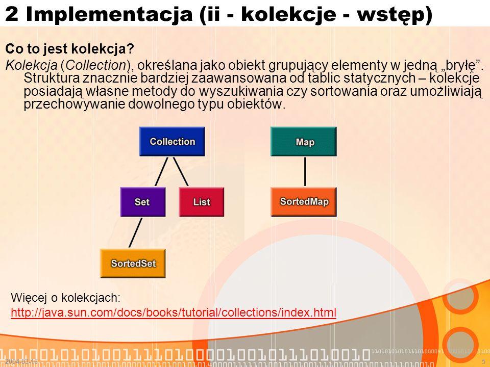 2 Implementacja (ii - kolekcje - wstęp)