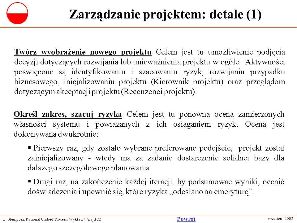 Zarządzanie projektem: detale (1)
