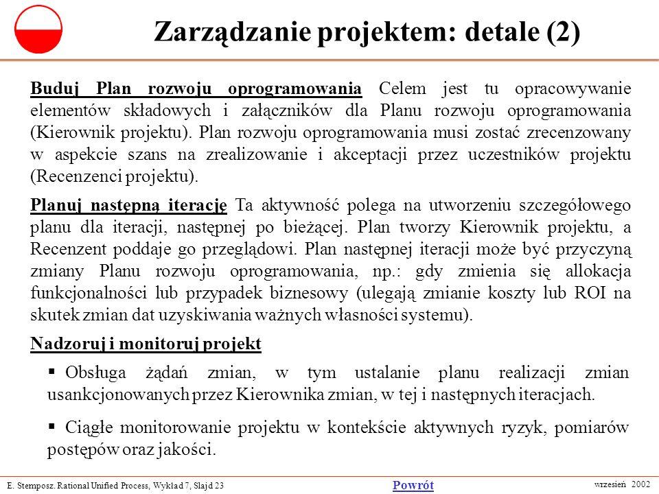 Zarządzanie projektem: detale (2)