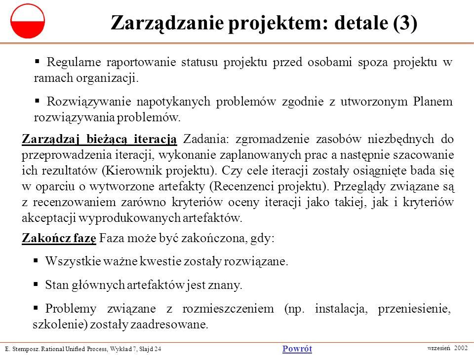 Zarządzanie projektem: detale (3)