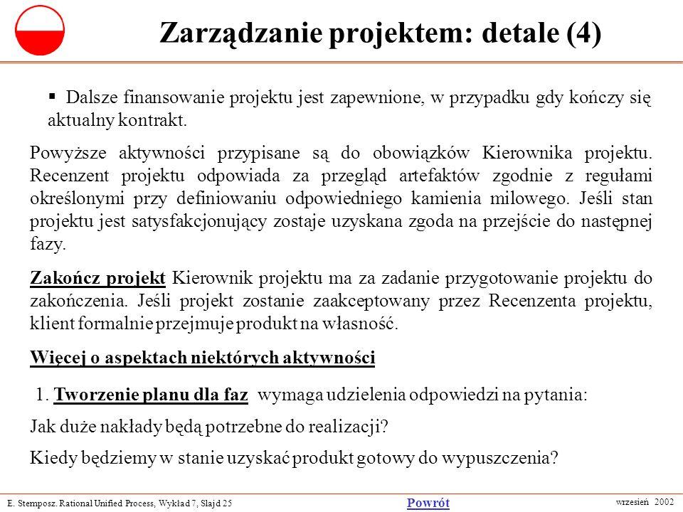 Zarządzanie projektem: detale (4)