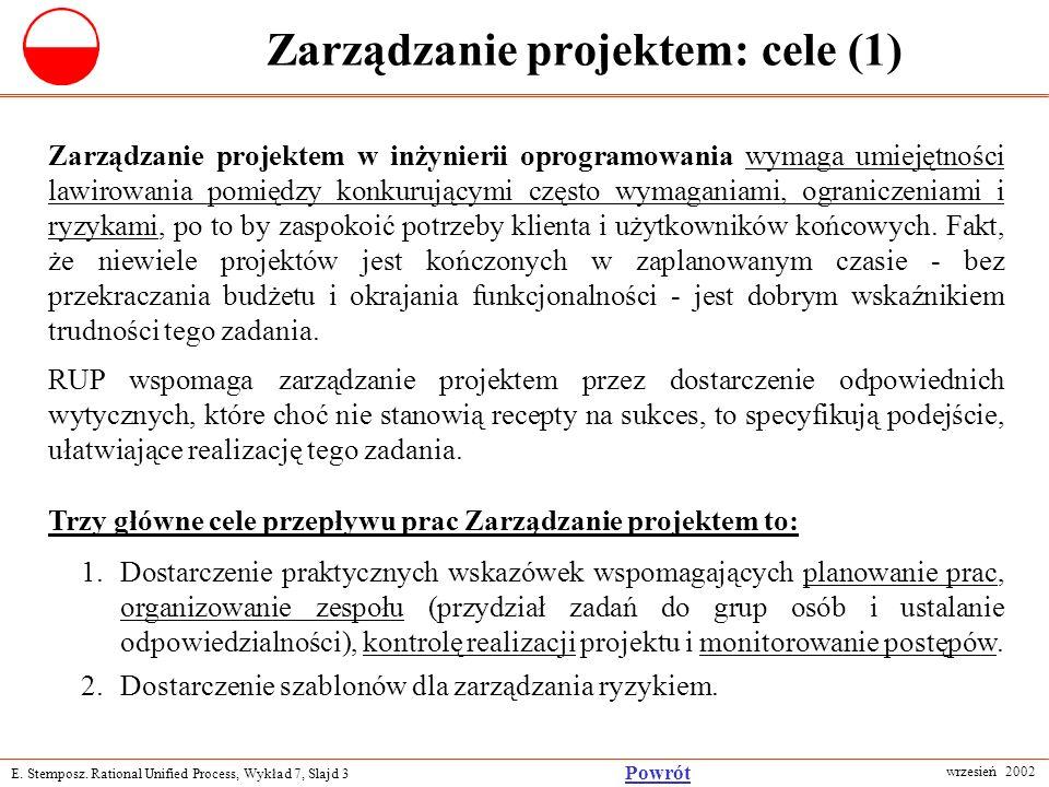 Zarządzanie projektem: cele (1)