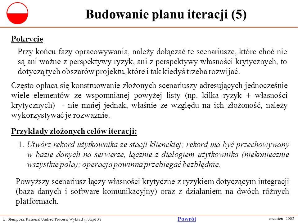 Budowanie planu iteracji (5)