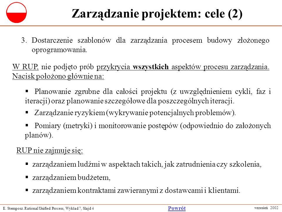 Zarządzanie projektem: cele (2)