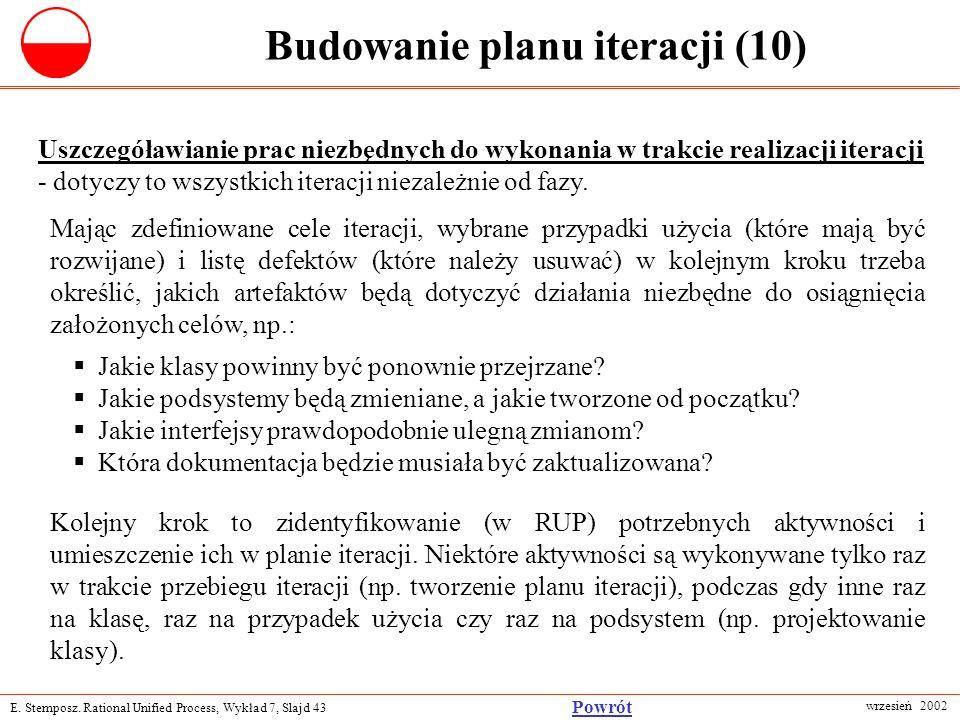 Budowanie planu iteracji (10)