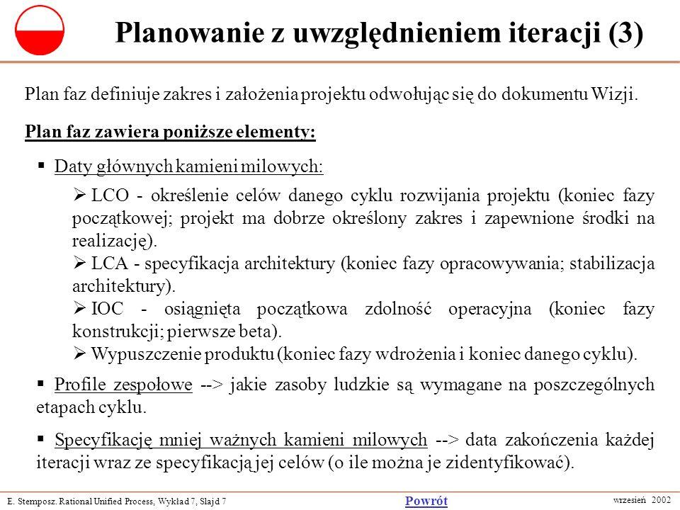 Planowanie z uwzględnieniem iteracji (3)