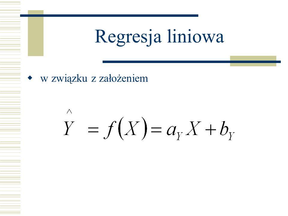 Regresja liniowa w związku z założeniem