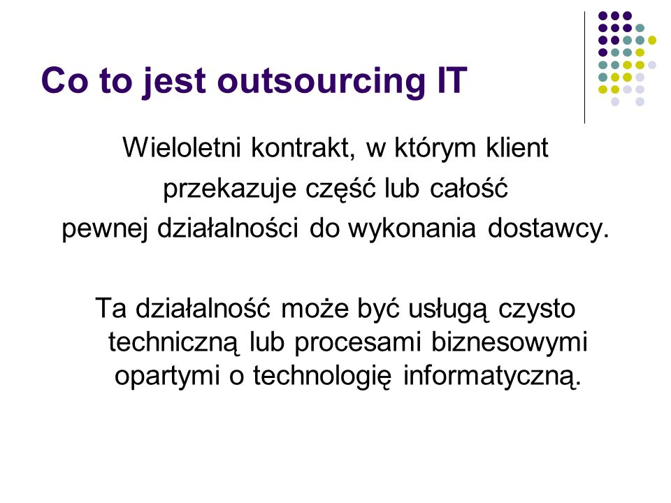 Co to jest outsourcing IT